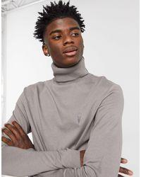 AllSaints Parlour Roll Neck Top - Grey
