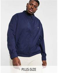 Polo Ralph Lauren - Темно-синяя Куртка Харрингтон Bi-swing С Логотипом Big & Tall-темно-синий - Lyst