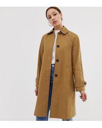 ASOS Asos Design Tall Boyfriend Trench Coat - Multicolour