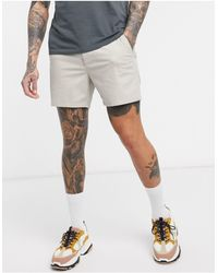 ASOS Skinny Chino Shorter Shorts - Grey