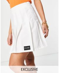 Reclaimed (vintage) Inspired Tennis Skirt - White