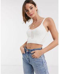 ASOS Knitted Bralet - White