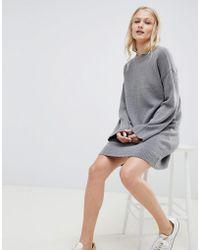 ASOS - Knitted Mini Dress In Fluffy Yarn - Lyst