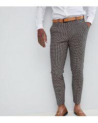 Heart & Dagger - Skinny Wedding Suit Trouser In Dogstooth - Lyst