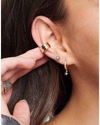 TOPSHOP Hammered Ear Cuff - Metallic