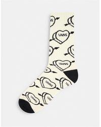 Vans Love Hate Crew Socks - Natural