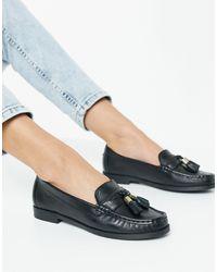 Carvela Kurt Geiger Medium Leather Tassel Loafer - Black