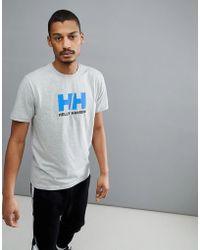 Helly Hansen - Logo T-shirt In Light Grey - Lyst