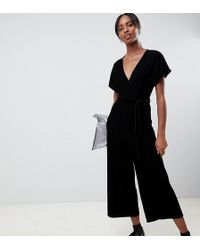 df4a511121a0 Lyst - New Look Floral Strappy Jumpsuit in Black