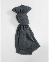AllSaints Шерстяной Oversized-шарф Темно-серого Цвета -серый