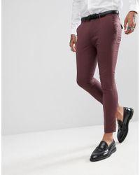 207d2f478 Rudie - Pantalones de traje de corte capri en liso y diseo muy ajustado de -