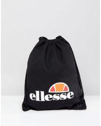 Ellesse - Drawstring Bag In Black - Lyst