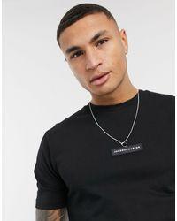 Jameson Carter Matt Leather Patch T-shirt - Black