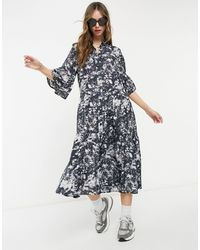 & Other Stories - Платье-рубашка Миди С Мраморным Принтом -многоцветный - Lyst
