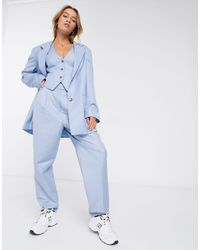 ASOS Extreme Dad Pantalon - Blauw