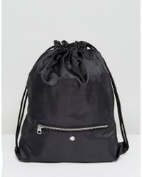 Cheap Monday - Drawstring Bag With Zip Pocket - Lyst