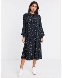 Vila - Oversized Smock Dress - Lyst
