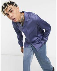 ASOS Camicia con colletto a rever - Blu
