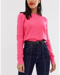 Pieces - Curved Buckle Waist And Hip Belt - Lyst