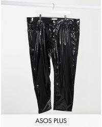 ASOS Plus - Klassieke stugge Jeans - Zwart