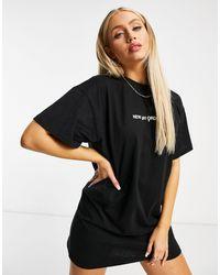 New Girl Order Logo T-shirt Dress - Black