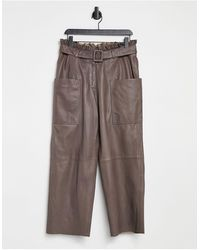 SELECTED Femme - Pantaloni - Marrone