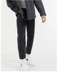 New Look Jeans corti slim nero slavato