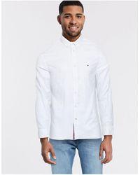 Tommy Hilfiger Рубашка Из Ткани Добби -белый