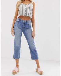 Miss Selfridge Straight Leg Jeans - Blue