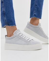 Vero Moda Leather Trainers - White