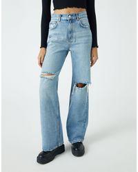 Pull&Bear 90's Straight Leg Jeans - Blue