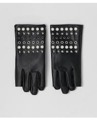 ASOS Leather Look Gloves With Pearl And Stud Detail - Black