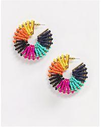ALDO Tatra Colourful Beaded Hoop Earrings - Multicolour