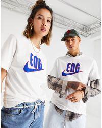 Nike Football – Euro 2020 – es England-T-Shirt mit Swoosh-Logo - Weiß