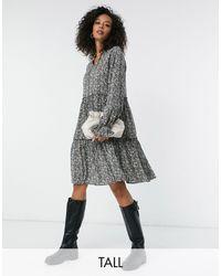Y.A.S Свободное Платье Мини С Пестрым Принтом Aja-многоцветный - Серый