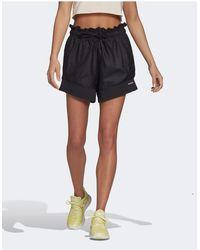 adidas Originals Adidas Training Ruched Waist Shorts - Black