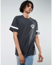 Brixton - Raglan T-shirt With Small Logo - Lyst