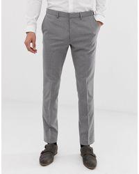 Burton – Enge Anzughose - Grau