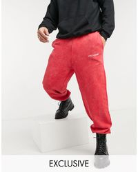 Collusion Oversized Sweatpants - Red
