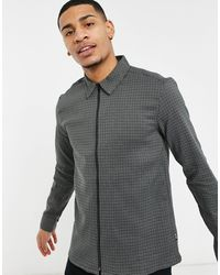 Only & Sons - Giacca Harrington grigia pied - Lyst