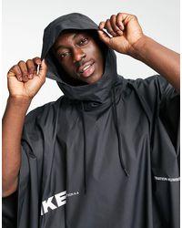 Nike Черное Пончо City Made Pack-черный Цвет