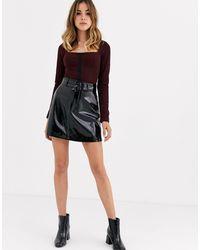 Capulet Lanora Pu A-line Mini Skirt - Black