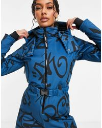 ASOS 4505 Ski Fitted Belted Ski Suit - Blue