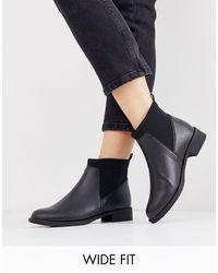 Park Lane Wide Fit Chelsea Boots - Black