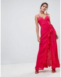 ASOS - Asos Ultimate Ruffle Front Cami Wrap Maxi Dress - Lyst
