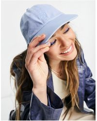 Weekday Tip Organic Cotton Eco Embroidered Slogan Cap - Blue