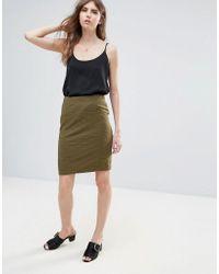 Ichi - Textured Skirt - Lyst