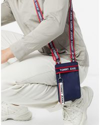 Tommy Hilfiger Taping Logo Pouch - Blue
