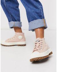 Palladium Pallashock Chunky Flat Ankle Boots - Pink