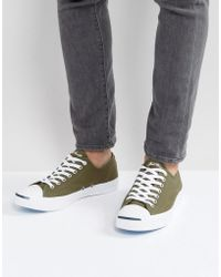 Converse - Jack Purcell Canvas Plimsolls In Green 157785c - Lyst